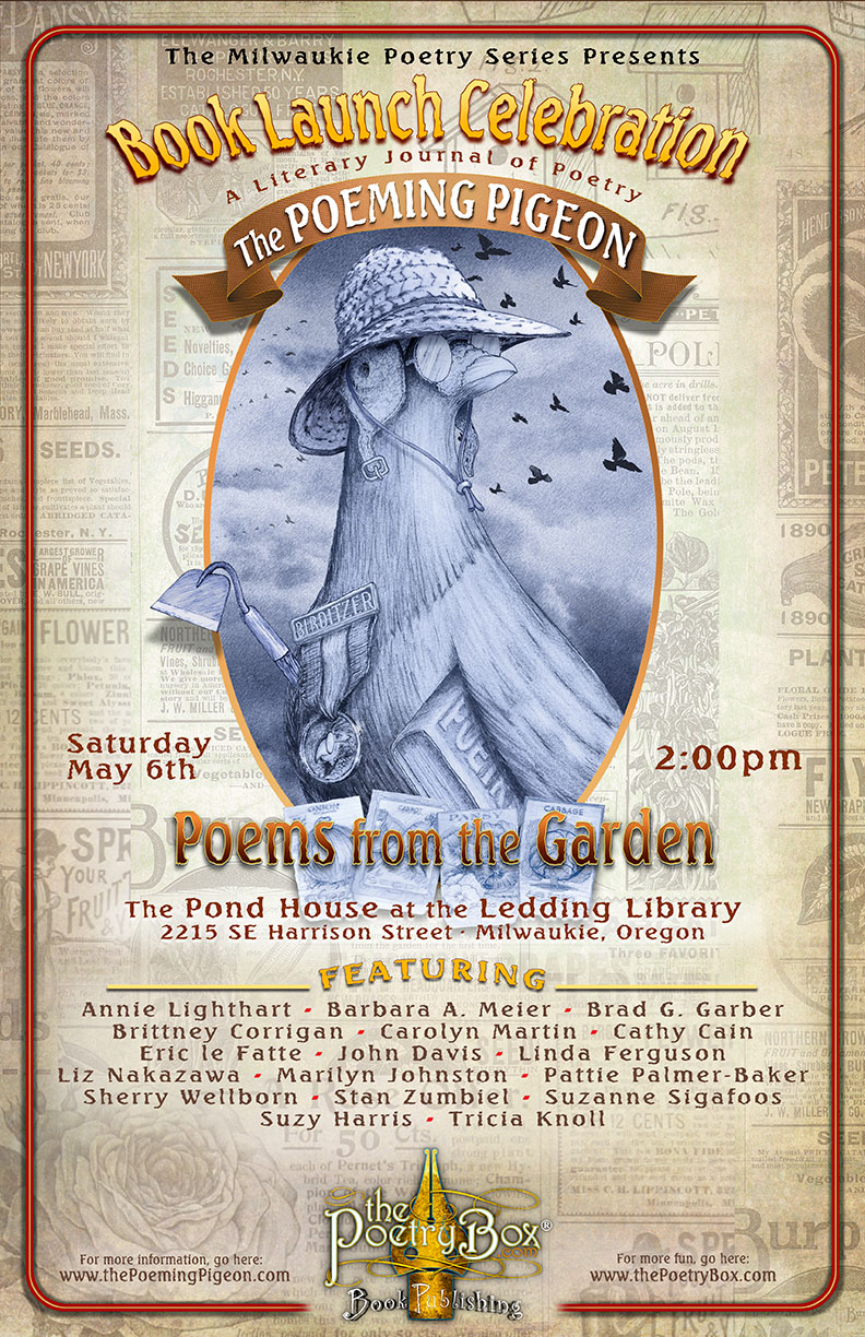 The Poeming Pigeon: Poems from the Garden Book Launch Poster
